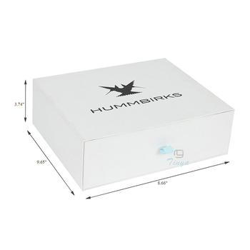 Paper Drawer Shoe Box Template With Custom Logo