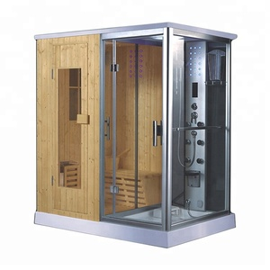 AT-D8856-1 Luxury 1 -2 person wooden culture wet steam sauna room