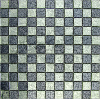 Grey And White Glass Mosaic MixCrack Glass TileMirror Mosaic Buy - 5x5 mirror tiles