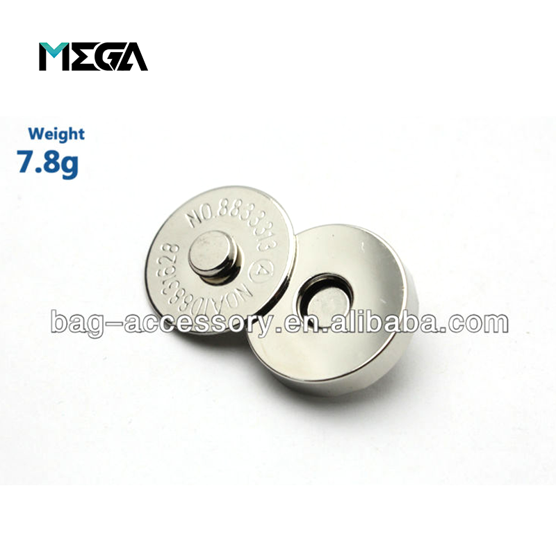 guangzhou magnetic hardware acces custom designer handbag hardware accessories strong metal magnetic snap button for leather bag