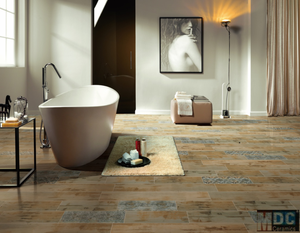 165*1200mm bathroom tile design foshan non-slip floor glazed rustic flooring ceramic wood tile from MDC