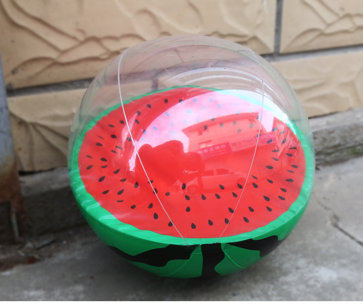 1pc MOQ Newest Swimming Pool Floating Transparent Clear Watermelon Orange Inflatable Toys Beach <strong>Ball</strong>