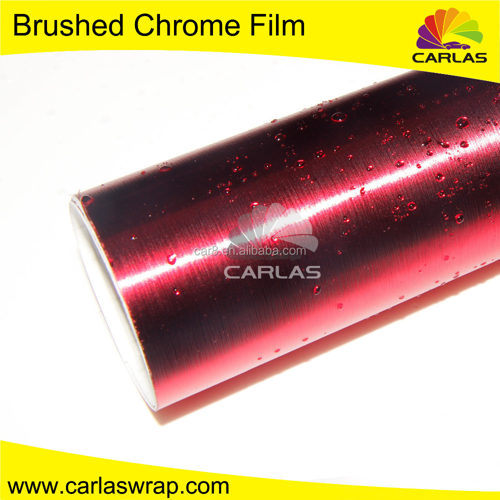 Carlas self adhesive car decoration wrap wholesale brushed chrome car wrap vinyl leather