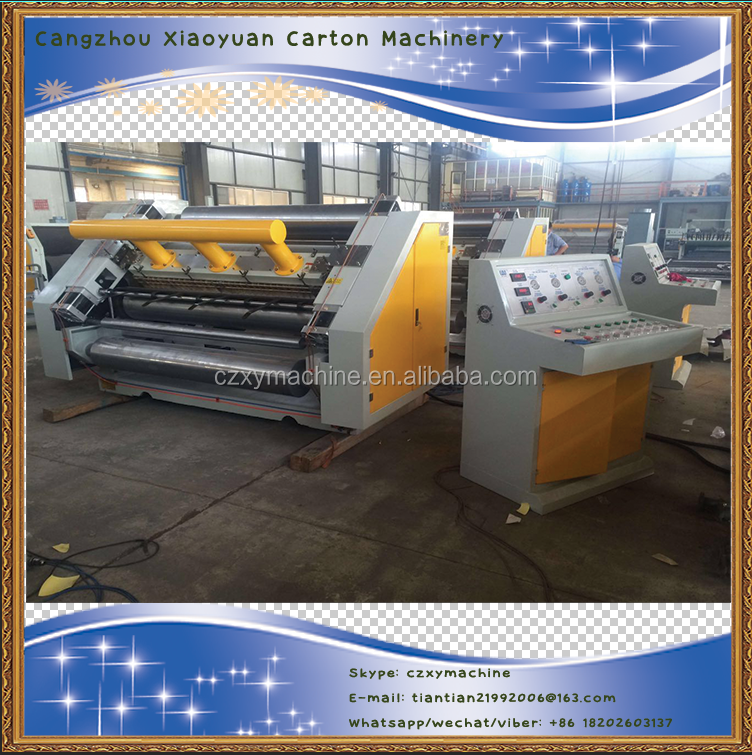 High speed vacuum absorb single facer machine
