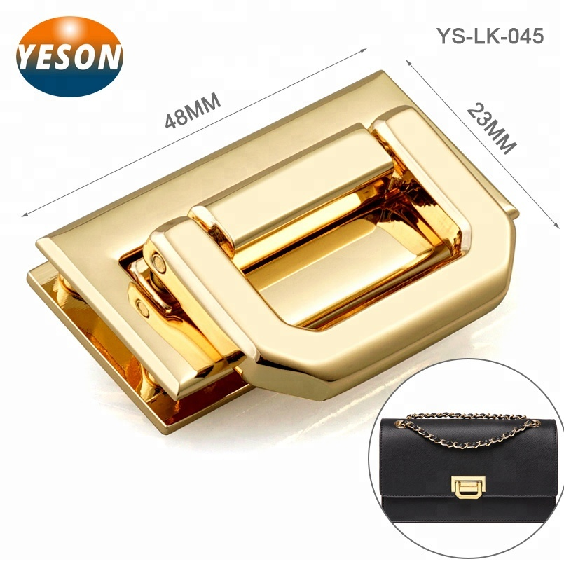 Metal Lock Round Rectangle Bag Case Buckle Clasp For Handbags Shoulder Bags Purse Tote Accessories Diy Craft With Diamond Punctual Timing Luggage & Bags