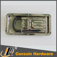 Stainless steel truck box side door lock
