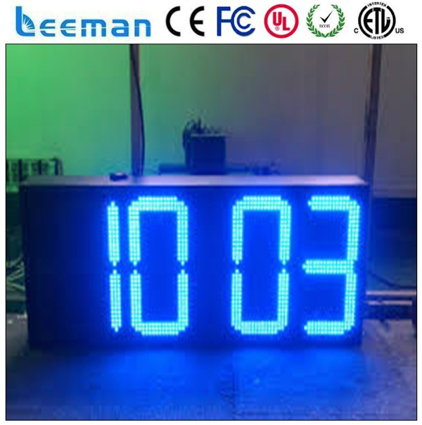 message board with temperature dual time zone clock outdoor led clock time date temperature sign