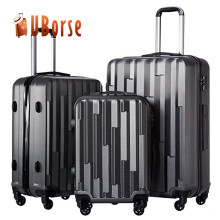 ABS PC hard shell travel luggage sets, cabin light weight trolley luggage suitcase