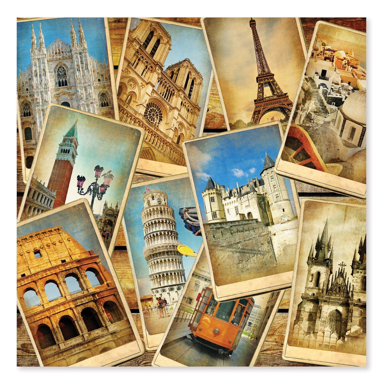 Melissa & Doug 1,000-Piece Postcards from Europe Famous Landmarks Jigsaw Puzzle (2 x 2 feet)