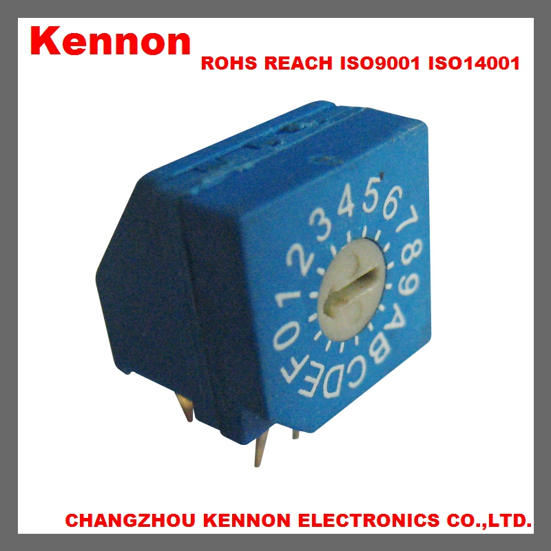 7 8 position mini dip slide rotary code switch CK switch
