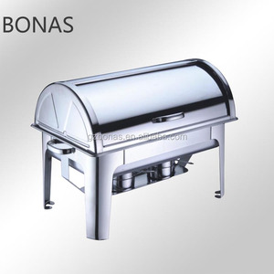 Stainless steel hot food display warmers, commercial food warmers, chafing dish electric heater