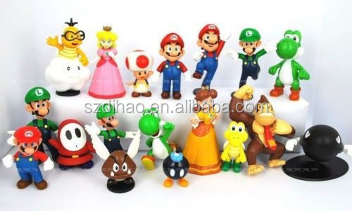DIHAO New Style Anime Figure Super Mario 2th Generation Action Figure 18pcs a set Wholesale Fashion Hot and Super Mario Figure