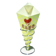 D175 printed potato chips paper cone packaging