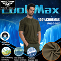 Brand T shirt Mens coolmax quick dry Breathable trekking Short Sleeve Tshirt Hiking fishing Military camouflage