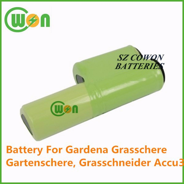 3.6V 3000mAh battery ni-mh battery pack power tool replacement battery for Gardena Grasschere Gartenschere Grasschneider Accu3