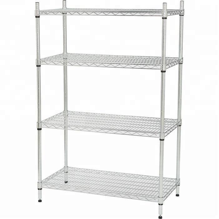 NSF High quality 4-layer chrome wire shelving home kitchen shelf