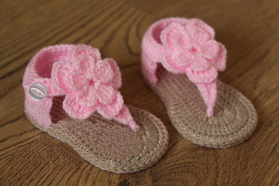 Promoci 243 N De Crochet Las Sandalias Del Beb 233 Para La Venta