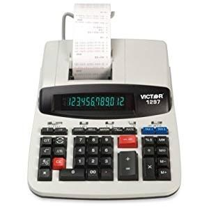 "Wholesale CASE of 5 - Victor 12-Dgt Backlit Disp. Commercial Calculator-12-Digit Calculator, 2-Color Heavy Duty Print, 8""x11""x3"",BG"