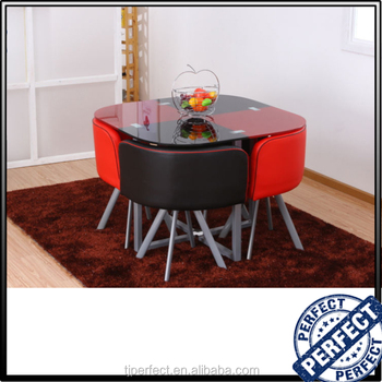 Cheap round restaurant dining table and chairs space for Round space saving dining table and chairs