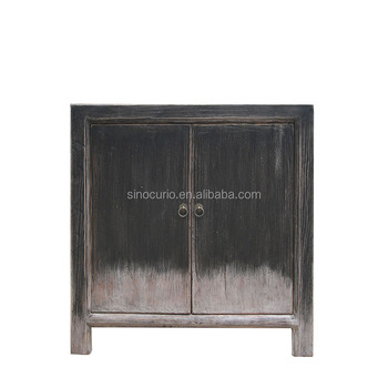 Oriental Reproduction Rustic Distressed Solid Wooden Shabby Chic Handmade Curio  Cabinet