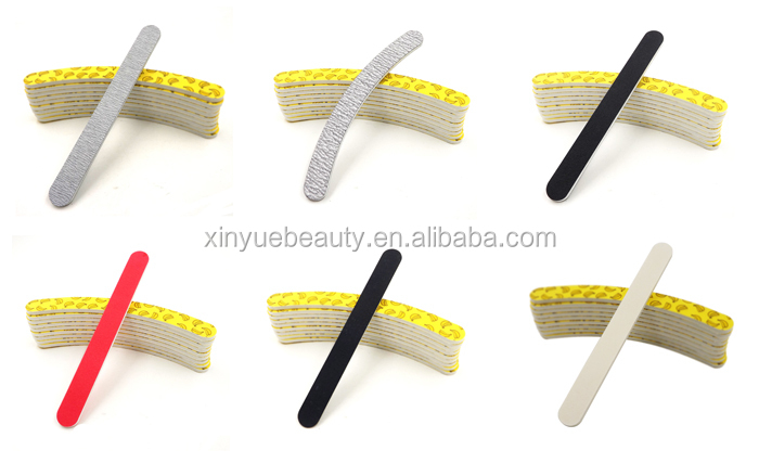 korean matails grey nail file zebra nail file grey nail file with 100/180