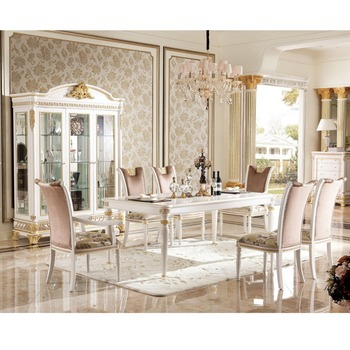 YB62 2 Luxury French Style Gold Leaf Dining Room Furniture/Baroque Palace  Style Marquetry