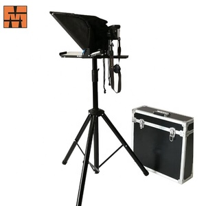 2019 Best Popular  15  Inch Portable Interview Speech  Teleprompter Suitable For Ipad And Iphone