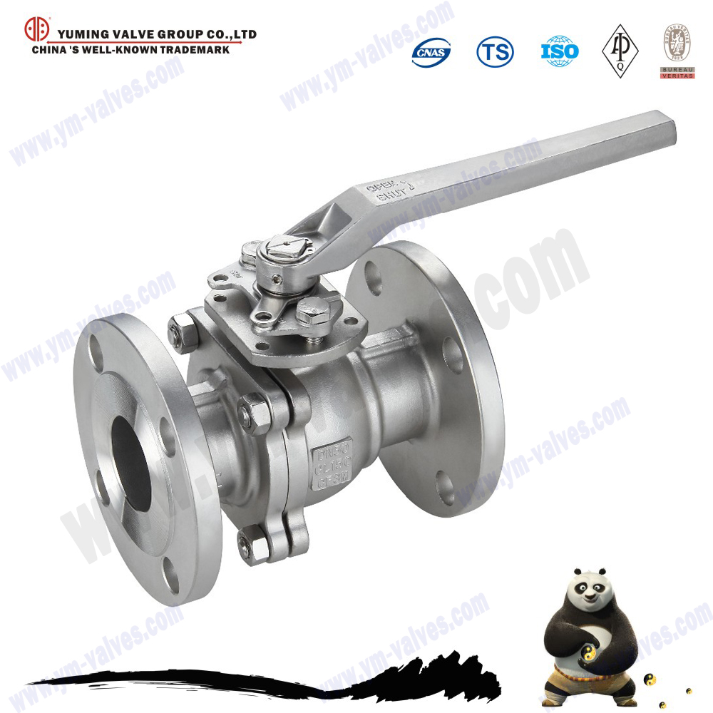 High Quality floating type stainless steel flanged ball valves