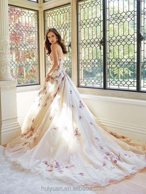 e7ec10c18c02 sexy sfera cinghia champagne abito di pizzo fiore rosa abito da sposa  romantico angelo