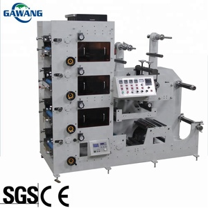 High saturation plastic flexo label printing machine