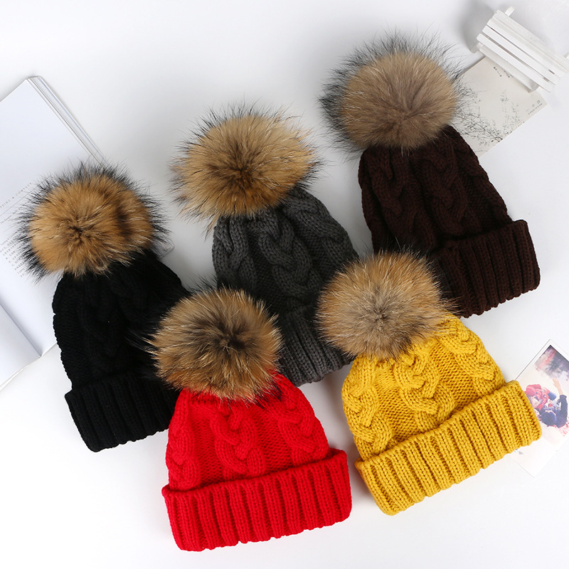 Good Quality Fashion Colorful Funny Custom Patch Winter Knitted Beanie Hat
