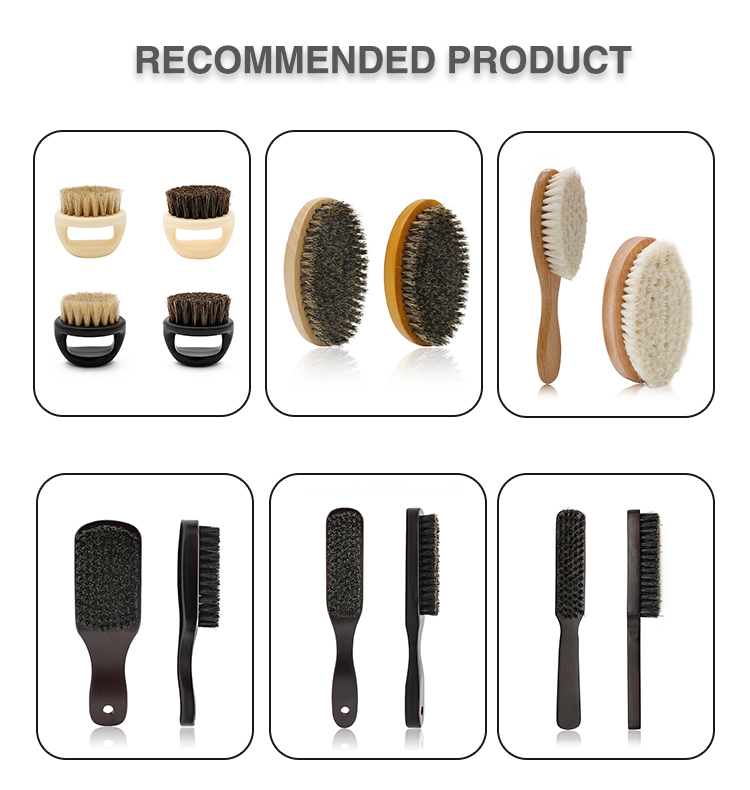 Long Paddle Handmade Wooden Handle Comfortable Wool Hair Brush Facial Cleaning Baby Hair Brush