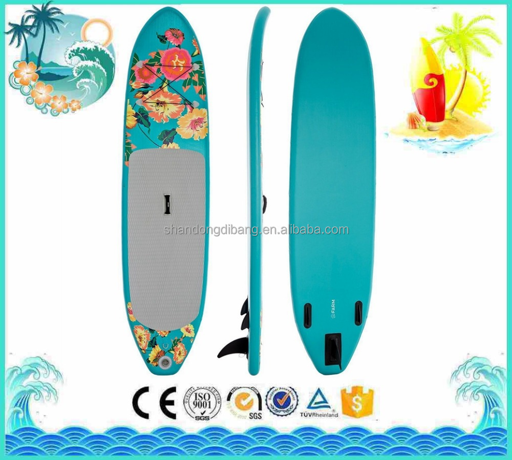 DBS164 All around coloful flower Cheap Surfing isup 10'6''soft sup Boards Drop Stitch inflatable stand up paddle board