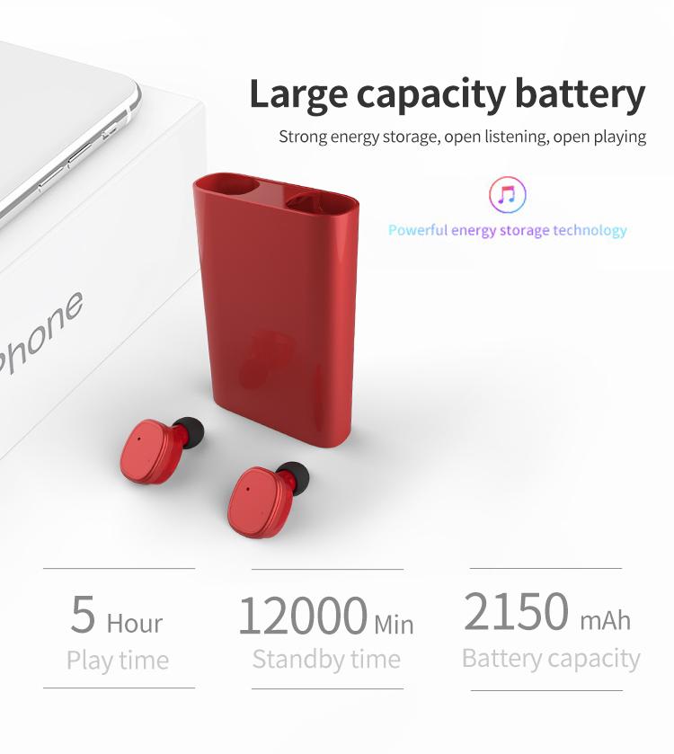 A maioria dos produtos vendidos big bateria 80 horas dual mini bluetooth ture tws fones de ouvido-preto 5.0