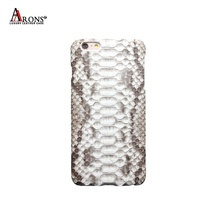 100% Handmade Oem Genuine Leather Real Python Skin Phone Case Snakeskin Leather Cell Phone Case for iPhone 6 /6s