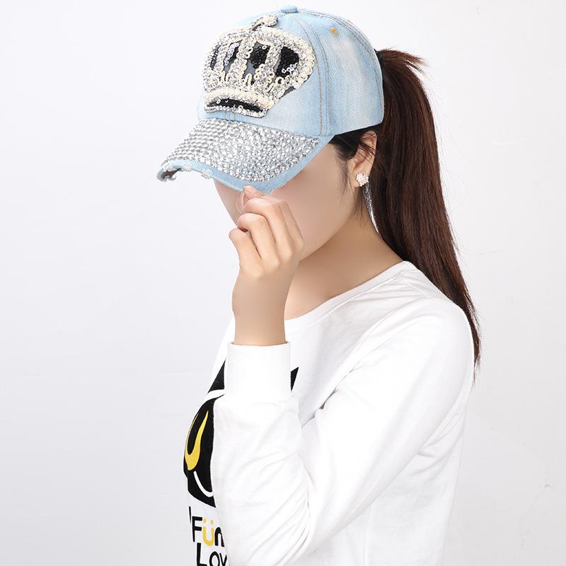 Get Quotations · Wholesale Imperial Crown Bones Diamond 2015 Fashion Women  Rhinestone Baseball Cap Snapback Rhinestone Marca Casual Cotton ed5fc31afc9
