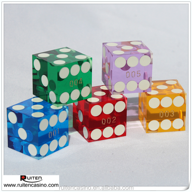 Acrylic Precision Dice With Serial Number
