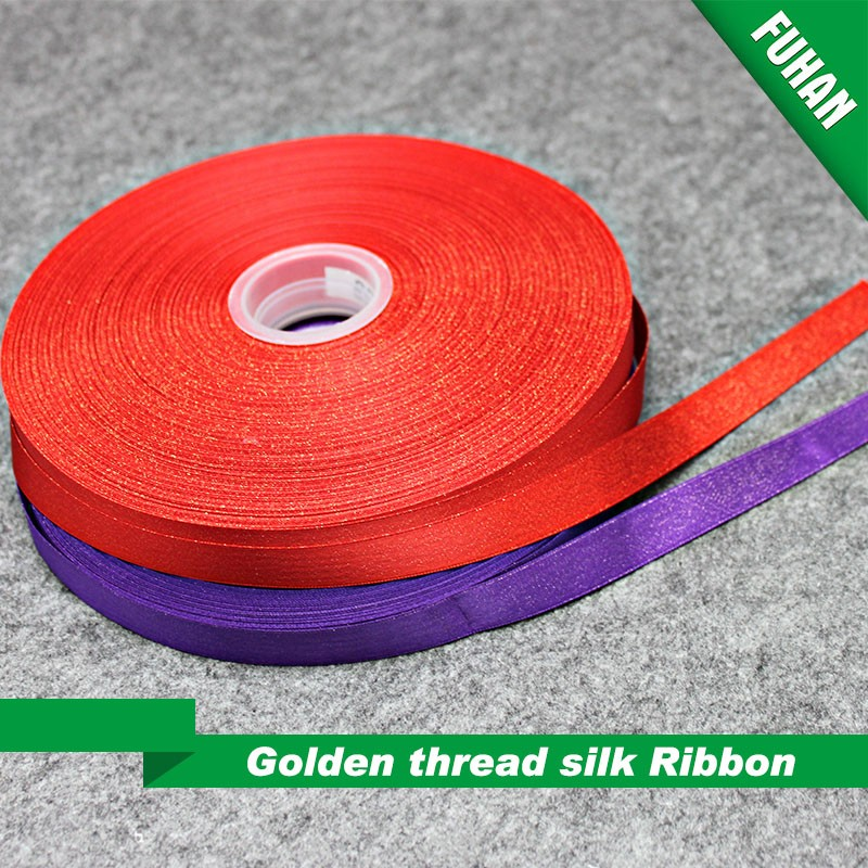 Factory Supply Colorful Gift Packing Silk Satin Ribbon
