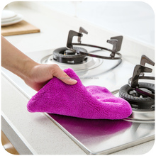 Mircrofiber Scouring Pad Cleaning Kitchen Towels cleaning Cloth Coral Velvet Sponge Cloth