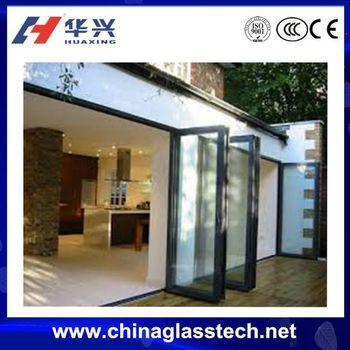 Inward Outward Opening Aluminium Alloy Exterior Glass Folding Door
