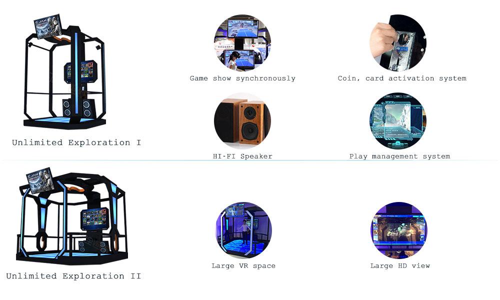 Hot Koop Thema Park 9D VR game machine Arcade VR wandelschoenen schieten Jacht game simulator voor Kids volwassenen