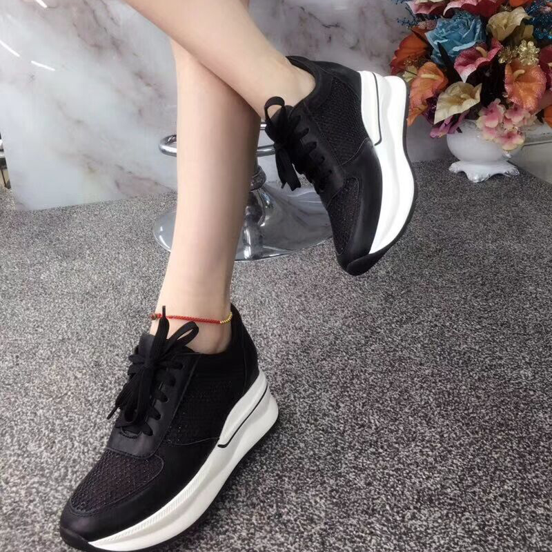 bottom face increase shoes thick leather casual rhinestone mesh Lace women lazy 1TqTP