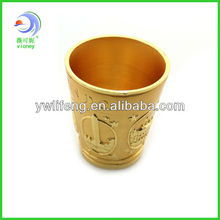 Chinese Directly Factory Golden Metal Craft Cup for Christmas promotion