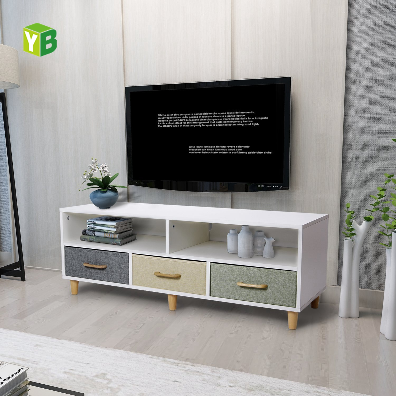 Yibang Cheap Beautiful Wood Tv Stand Furniture,Modern Small China New Tv  Wooden Cabinet - Buy Wood Tv Stand,Beautiful Tv Stand,Wood Tv Stand Product  ...