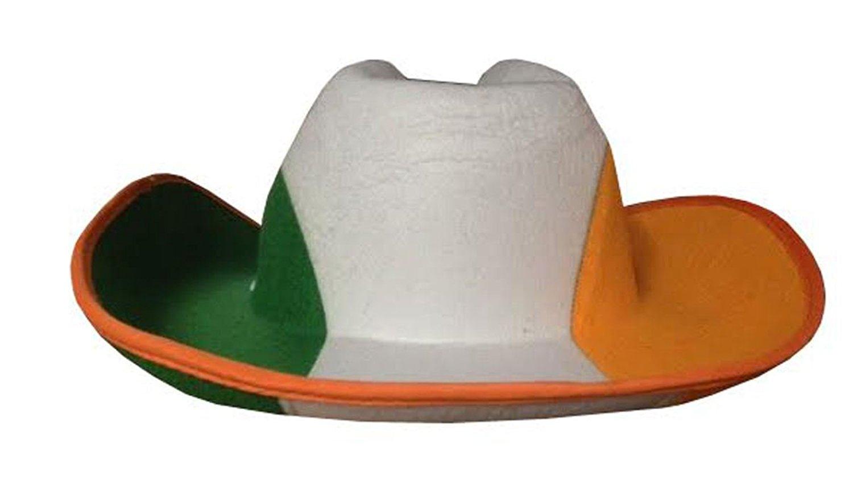 Get Quotations · Rimi Hanger ST Patricks Day Cowboy Hat Adults Irish Saint  Green White Orange Fancy 865d13c8570e