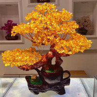 Large Money Tree citrine crsytal tree for home decoration