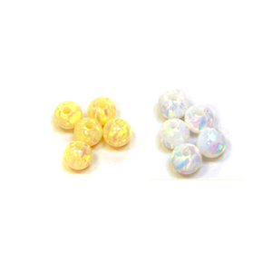 Toq Quality Drilled Full Hole Ball Shape Colorful 4mm 5mm Opal Beads for Bracelets Necklace making