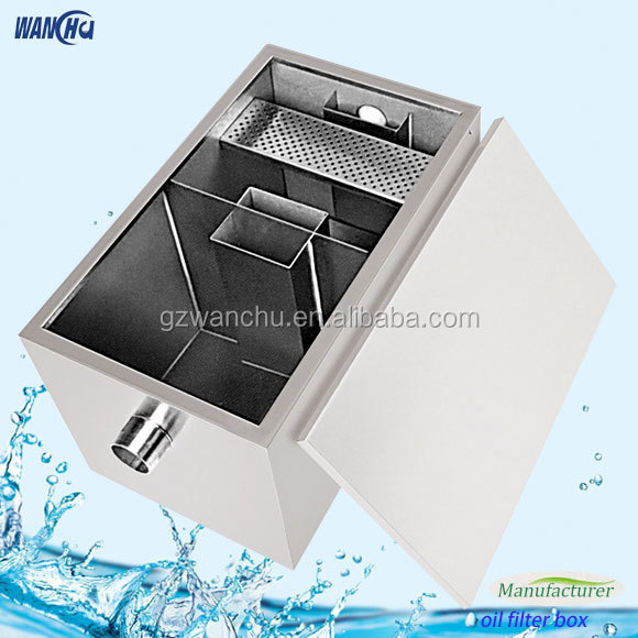 Commercial Stainless Steel Kitchen Oil Grease Trap Filter