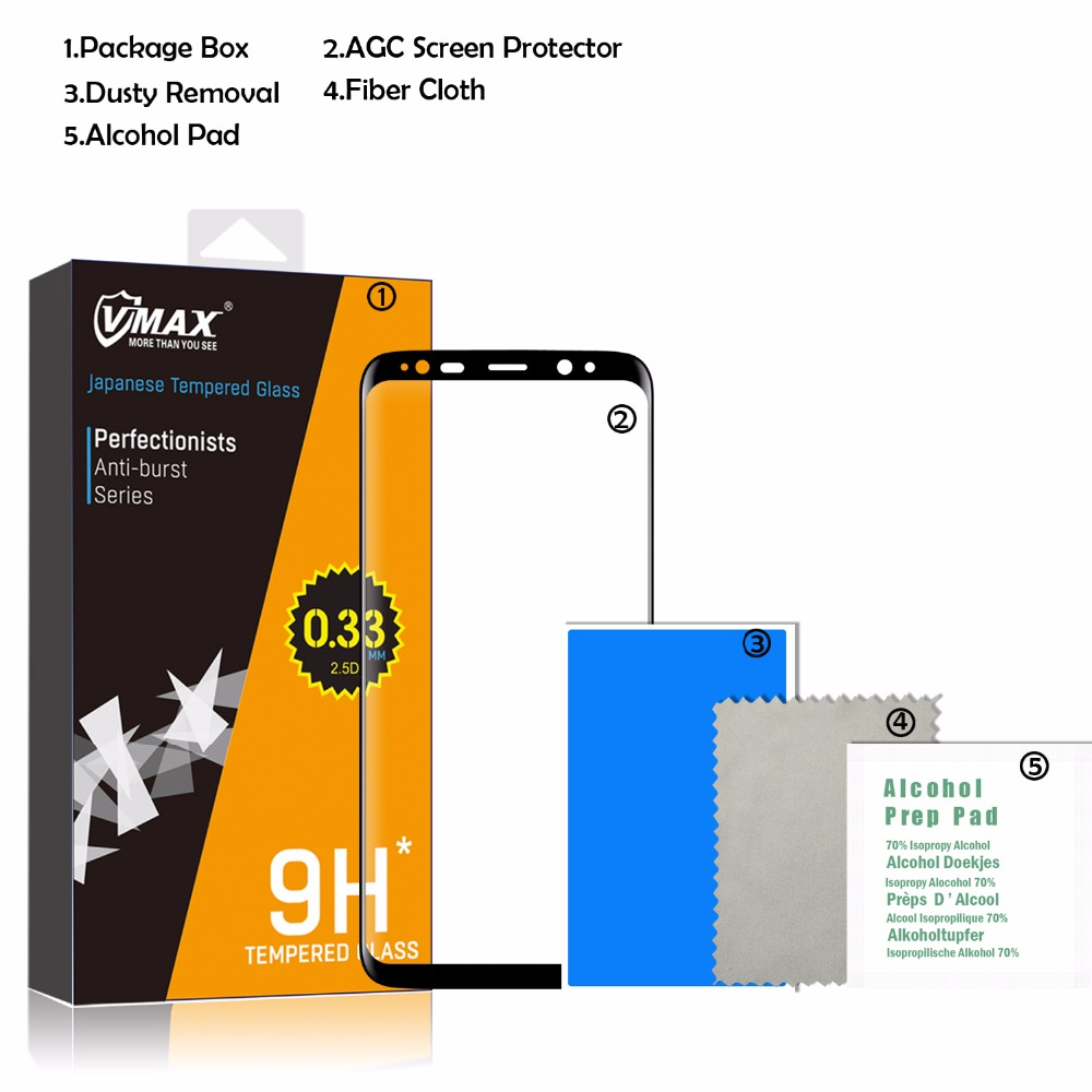 Easy to Install 3D Full Coverage Tempered Glass Screen Protector for Samsung galaxy S8 / S8 Plus фото