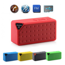 Mini Speaker X3 Cube Blue tooth Speaker Portable Wireless Handsfree TF FM Radio Built in Mic MP3 Subwoofer